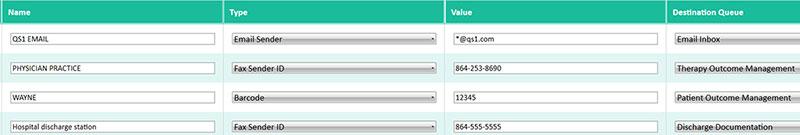 Document management screenshot