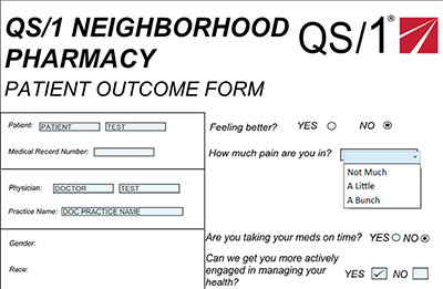 community pharmacy - patient outcome form