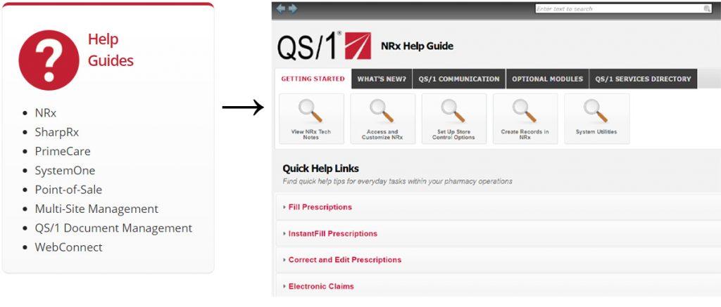 Screenshot: NRx Help Guide
